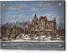 Winter At The Castle Acrylic Print