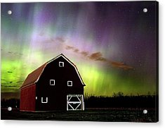 Acrylic Print featuring the photograph Winter Aurora by Timothy McIntyre