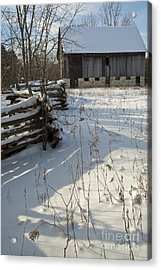 Acrylic Print featuring the photograph Winter Barn II by Jessie Parker
