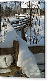 Acrylic Print featuring the photograph Winter Barn IIi by Jessie Parker