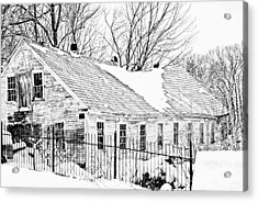 Winter Barn Acrylic Print by Marcia Lee Jones