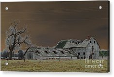 Winter Barns Acrylic Print by Alys Caviness-Gober