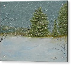 Winter Blanket Acrylic Print