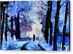 Winter Blues Tnm Acrylic Print by Vincent DiNovici