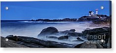 Winter Bomb Hits Nubble Acrylic Print