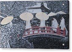 Winter Bridge Of Japan Acrylic Print