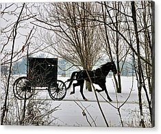 Winter Buggy Acrylic Print