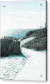 Winter By The Sea Acrylic Print by Allan Millora