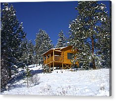 Acrylic Print featuring the photograph Winter Cabin by Shane Bechler