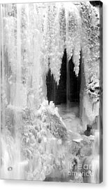 Winter Cave Acrylic Print by Jeannette Hunt