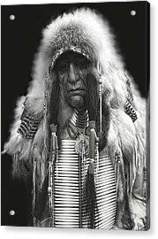 Winter Chief B W Acrylic Print