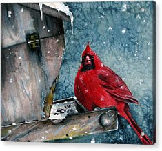 Acrylic Print featuring the painting Winter Chills by Margit Sampogna