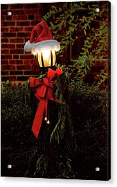 Winter - Christmas - It's Going To Be A Cold Night Acrylic Print by Mike Savad