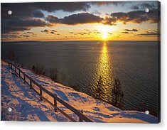 Winter Cliffs On Lake Michigan Acrylic Print