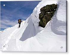 Winter Climb On Mount Lafayette Acrylic Print