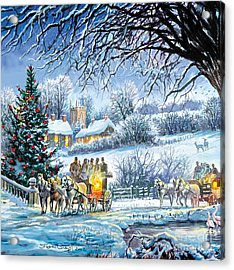 Winter Coaches Acrylic Print by Steve Crisp
