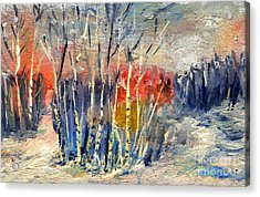 Winter Colors Acrylic Print