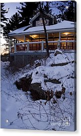 Acrylic Print featuring the photograph Winter Cottage by Jessie Parker