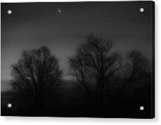 Winter Crecent Moon Acrylic Print by Bill Wakeley