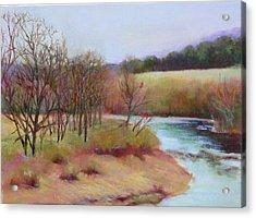 Winter Creek                  Copyrighted Acrylic Print by Kathleen Hoekstra