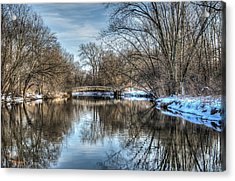 Winter Creek Acrylic Print by Dan Crosby