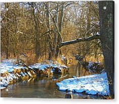 Winter Creek Acrylic Print by Joyce Kimble Smith