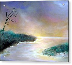 Winter Dawn 1 Acrylic Print by Alys Caviness-Gober