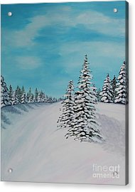 Winter Day In The Country Acrylic Print by Barbara Griffin