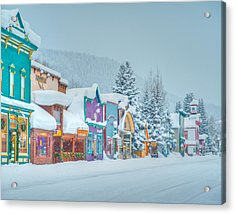 Winter Daybreak - Crested Butte Acrylic Print