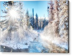 Winter Delight On Lolo Creek Acrylic Print by Katie LaSalle-Lowery
