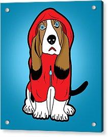 Winter Dog  Acrylic Print by Mark Ashkenazi