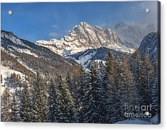 Winter Dolomites Acrylic Print by Martin Capek