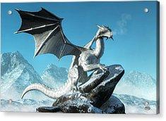 Winter Dragon Acrylic Print by Daniel Eskridge