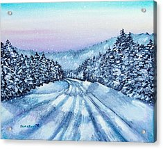 Winter Drive Acrylic Print by Shana Rowe Jackson