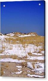 Acrylic Print featuring the photograph Winter Dunes Fire Island by Karen Silvestri