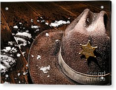 Winter Duty Acrylic Print by Olivier Le Queinec