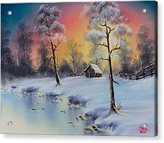 Winter's Grace Acrylic Print by C Steele