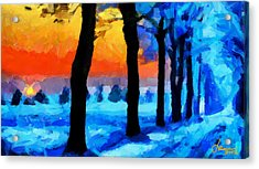 Winter Escape Tnm Acrylic Print by Vincent DiNovici