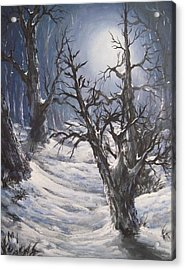 Winter Eve Acrylic Print by Megan Walsh