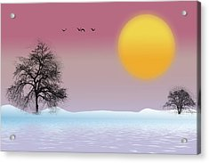 Winter Evening Acrylic Print
