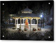 Winter Evening Gazebo Acrylic Print