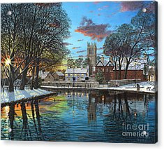Winter Evening Acrylic Print by Richard Harpum