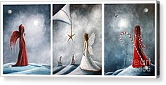 Winter Fairies By Shawna Erback Acrylic Print by Shawna Erback