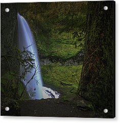 Winter Falls Acrylic Print by Jean-Jacques Thebault