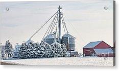Winter Farm  7365 Acrylic Print by Jack Schultz