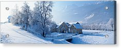Winter Farm Austria Acrylic Print by Panoramic Images