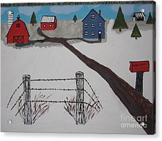 Acrylic Print featuring the painting Winter Farm by Jeffrey Koss