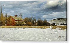 Winter Farm Acrylic Print by Steve McKinzie