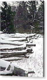 Winter Fence Acrylic Print by Ty Helbach