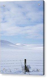 Winter Fenceline Acrylic Print